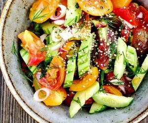 salad, food, and fit image