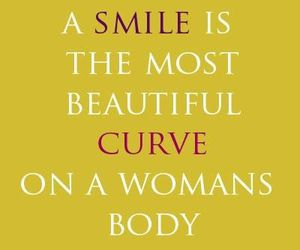 smile, quotes, and woman image