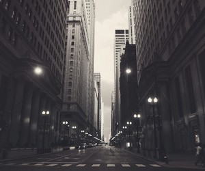 city, black and white, and chicago image