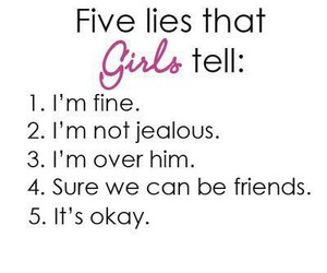 girl, lies, and quote image