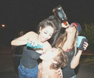 alcohol, cute friends, and locura image