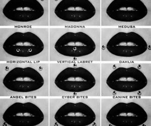 piercing, lips, and snake bites image