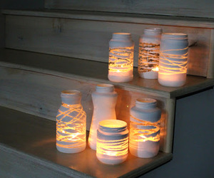 light, diy, and candle image