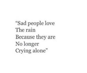 sad, rain, and quotes image