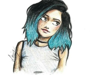 drawing, girl, and kylie jenner image
