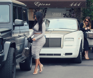 kim kardashian, black, and car image