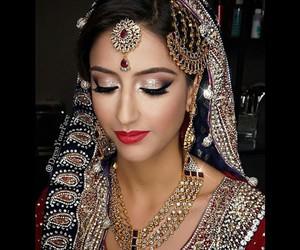 bridal, bride, and india image