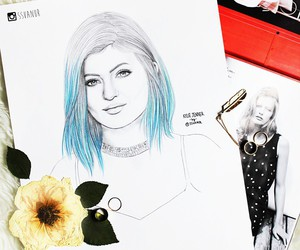 drawing, kylie jenner, and ssvanur image