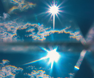 sky, blue, and sun image