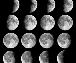 background, moons, and phases image