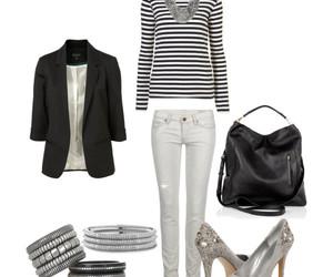 black, fashion, and grey image