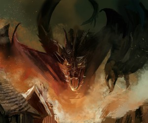 desolation, dragon, and jrr tolkien image