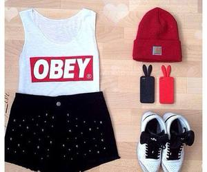 obey, clothes, and outfit image