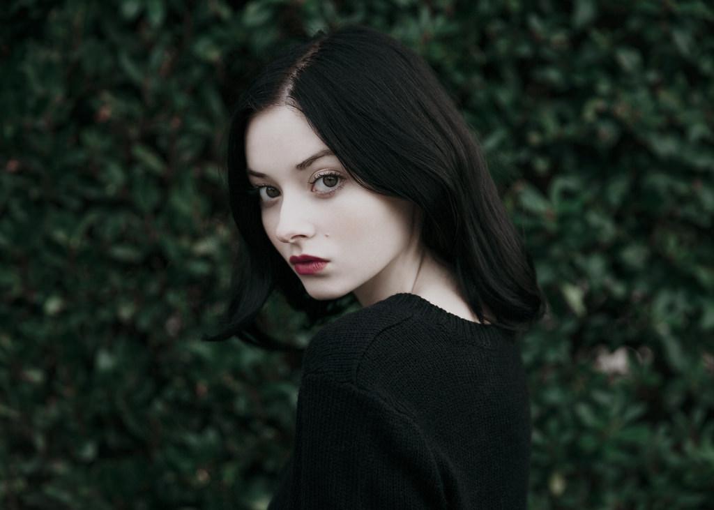 black, black hair, and girl image