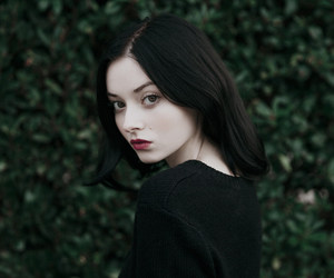 black, black hair, and girl image