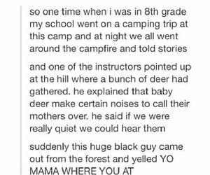 camping, deer, and epic fail image