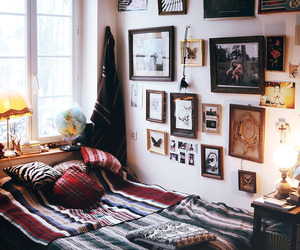 bed, hipster, and comfy image
