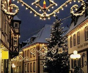 christmas, christmas lights, and deutschland image