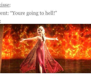 hell, elsa, and fire image