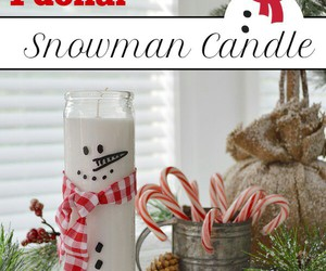 candle, diy, and snow image