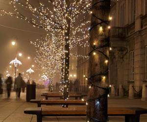 christmas, cold, and lights image