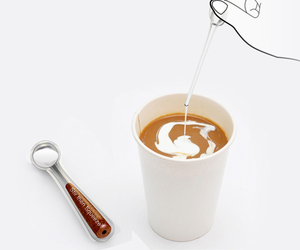 spoon, coffee, and creamer image