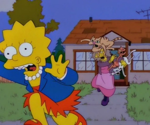 cat and the simpsons image