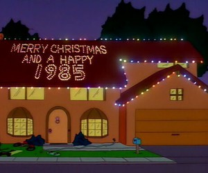 christmas, new year, and The Simpson image