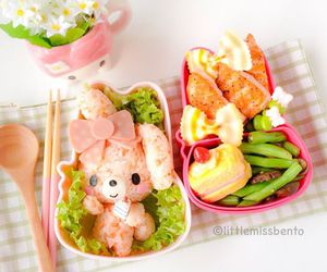kawaii, pink, and little miss bento image
