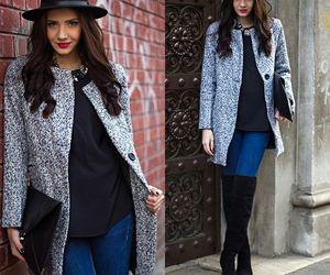 boots, fashion, and coat image