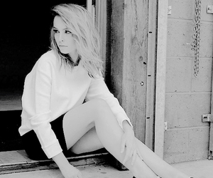 black and white and bridgit mendler image