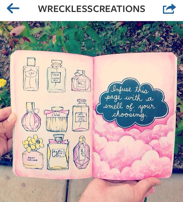 perfume, pretty, and wreck this journal image