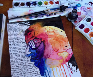 art, colors, and paint image