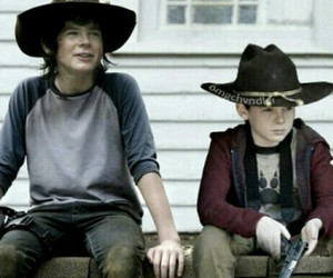 handsome, twd, and carl grimes image