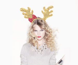 blonde, christmas, and Taylor Swift image