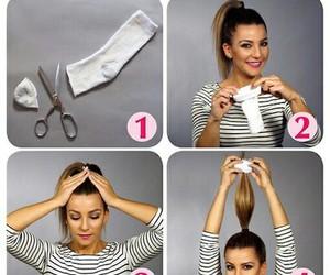 bun, diy, and hair image