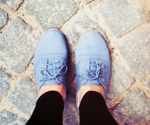 shoes, blue, and vintage image