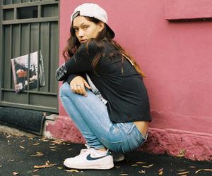 girl, nike, and model image