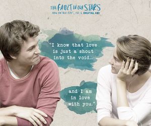 the fault in our stars, tfios, and love image