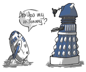 Dalek, star wars, and doctor who image