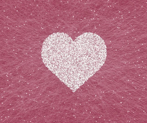 heart, pink, and white image