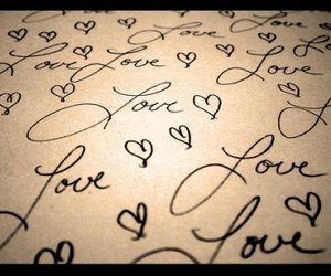 love, heart, and hearts image