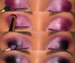 black, makeup, and pink image