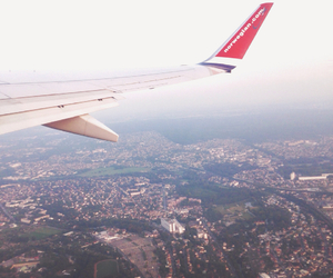 airplane, Flying, and norwegian image