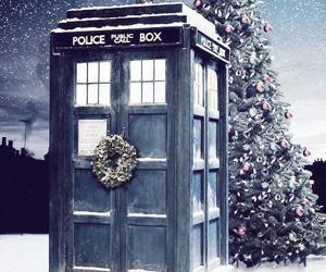 doctor who, christmas, and tardis image