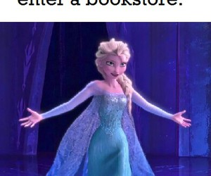 book, frozen, and bookstore image