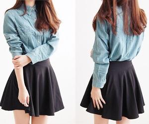 kfashion, skirt, and outfit image