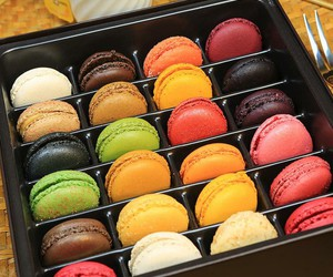 food, macarons, and sweets image