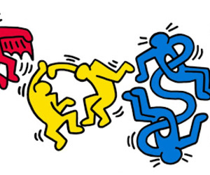 doodle, google, and keith haring image