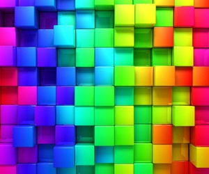 rainbow, colors, and cube image